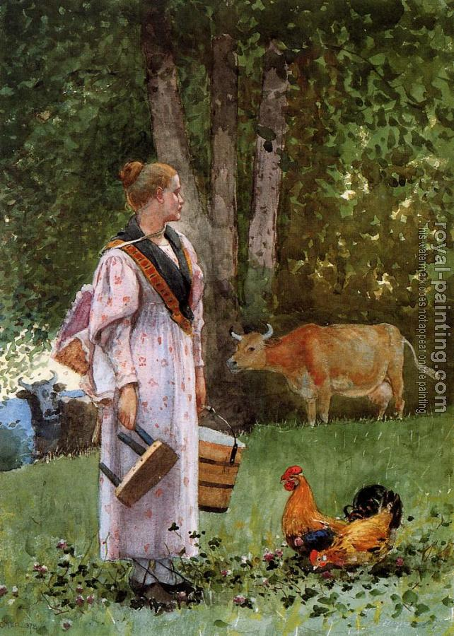 Winslow Homer : The Milk Maid